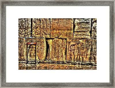Framed Print featuring the photograph Wailing Wall by Doc Braham