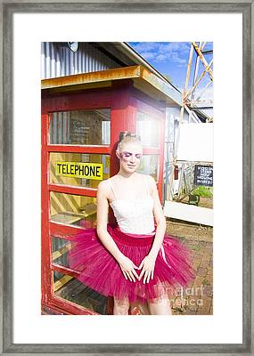 Waiting For A Phone Call Framed Print