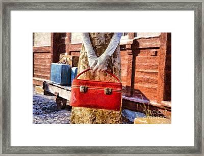 Waiting For A Train Framed Print by Edward Fielding