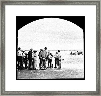 Waiting For Fish Holly Beach Now Wildwood New Jersey 1907 Framed Print by A Gurmankin