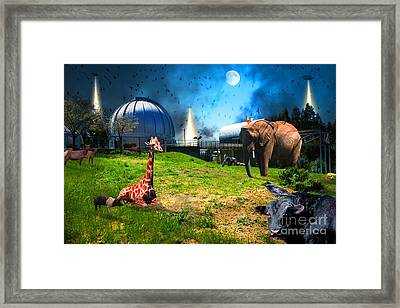 Waiting To Be Abducted By The Visitors At The Chabot Space And Science Center In The Hills Of Oaklan Framed Print by Wingsdomain Art and Photography