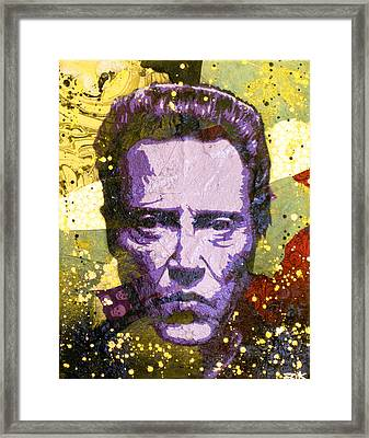 Walken My Ass Off Framed Print by Bobby Zeik