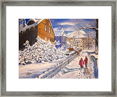 Walking Home Framed Print by Jim  Reale