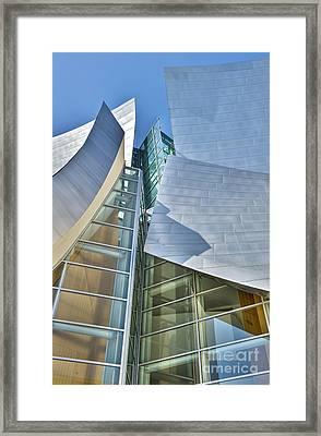 Walt Disney Concert Hall Vertical Los Angeles Ca Framed Print by David Zanzinger