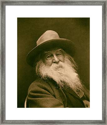Walt Whitman 1886 Framed Print by Mountain Dreams