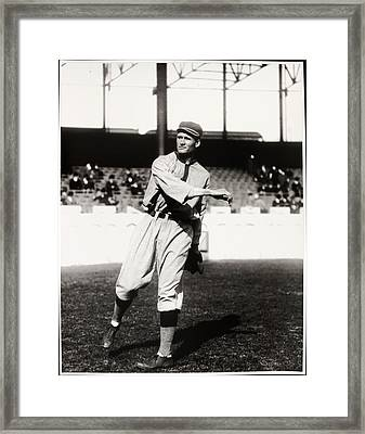Walter Johnson Poster Framed Print by Gianfranco Weiss