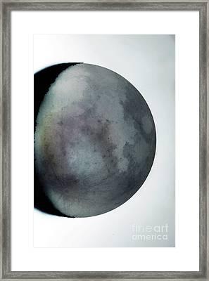 Waning Crescent Moon With Earthshine Framed Print by John Chumack