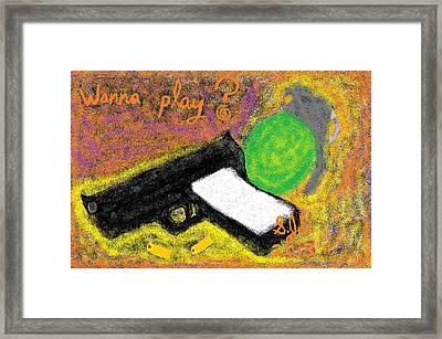 Wanna Play? Framed Print by Joe Dillon