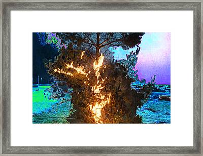 War Aggrasion Ceasefire Fire Destruction Obstruction Border Skirmishes Rogue Scare  Terror Terrorism Framed Print by Navin Joshi