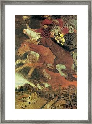 War Framed Print by Arnold Bocklin