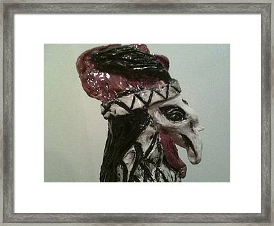 Warrior Rooster Framed Print by Suzanne Berthier