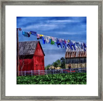 Wash Day Framed Print by Mountain Dreams