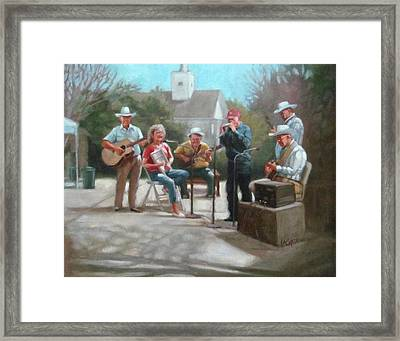 Washboard Music Framed Print by Janet McGrath