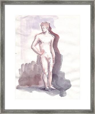 Washed Boy Framed Print by Line Arion