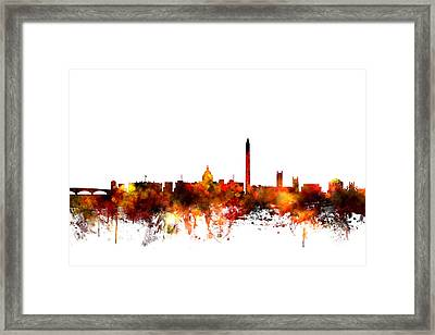 Washington Dc Skyline Framed Print by Michael Tompsett