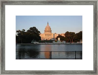 Washington Dc - Us Capitol - 011311 Framed Print