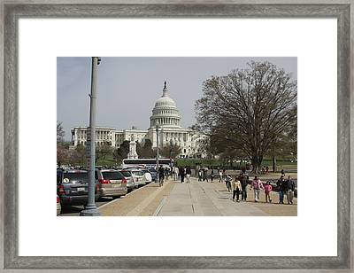 Washington Dc - Us Capitol - 01133 Framed Print by DC Photographer