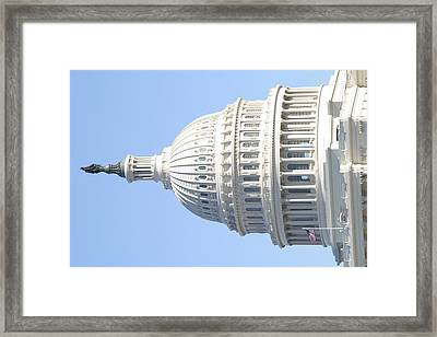 Washington Dc - Us Capitol - 01139 Framed Print by DC Photographer