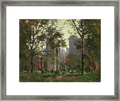 Washington Square, New York Framed Print
