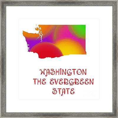 Washington State Map Collection 2 Framed Print by Andee Design
