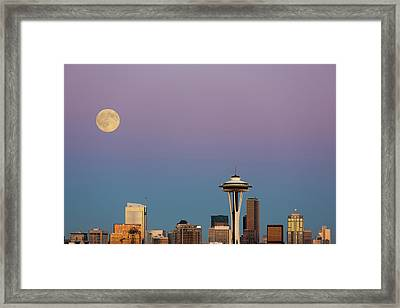 Washington State, Seattle, Skyline View Framed Print by Jamie and Judy Wild