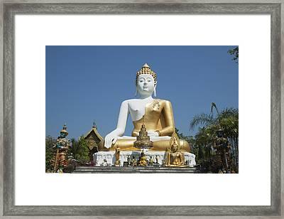 Wat Doi Kham Temple Buddha Chiang Mai Framed Print