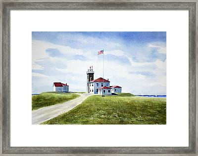 Watch Hill Ri Lighthouse Framed Print