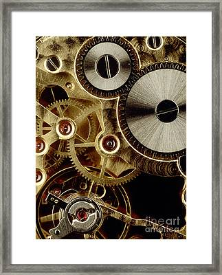 Watch Mechanism. Close-up Framed Print
