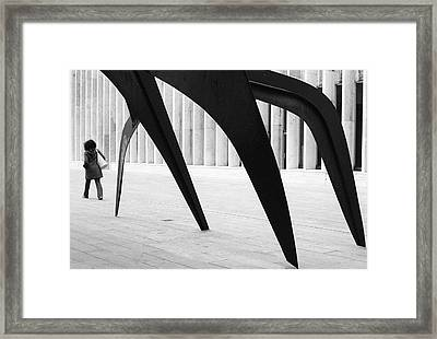 Watch Out Behind You Framed Print