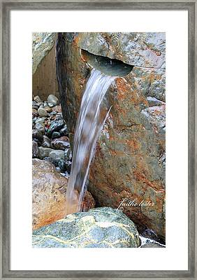 Water And Rocks II Framed Print