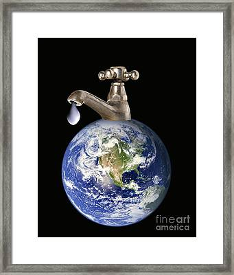 Water Conservation, Conceptual Image Framed Print