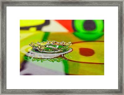 Water Crown Framed Print by Peter Lakomy