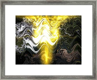 Water Dragon Framed Print by Linda Whiteside