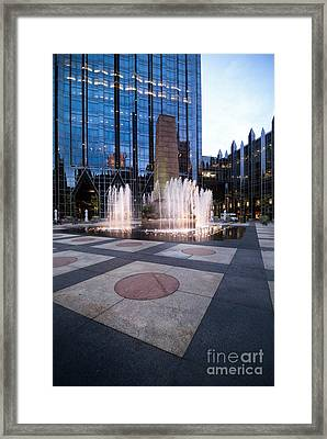 Water Fountain At Ppg Place Plaza Pittsburgh Framed Print by Amy Cicconi