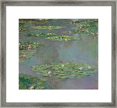 Water Lilies   Nympheas Framed Print by Claude Monet
