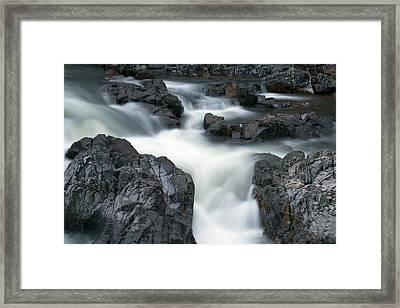 Water Over Rocks Framed Print