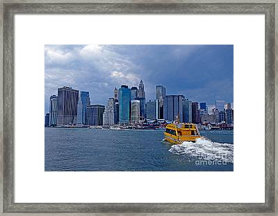 Water Taxi Framed Print by Bruce Bain