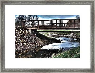 Framed Print featuring the photograph Water Under The Bridge by Deborah Klubertanz