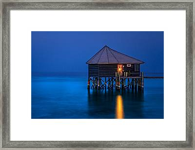 Water Villa In The Maldives Framed Print