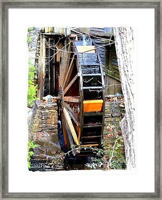 Framed Print featuring the photograph Water Wheel by Tara Potts
