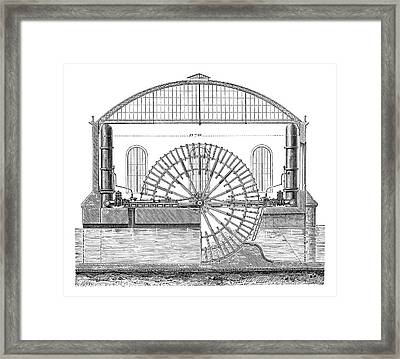 Water Wheels At Marly Framed Print