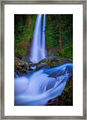 Waterfall - Bali Framed Print by Matthew Onheiber