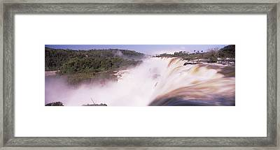 Waterfall After Heavy Rain, Iguacu Framed Print by Panoramic Images