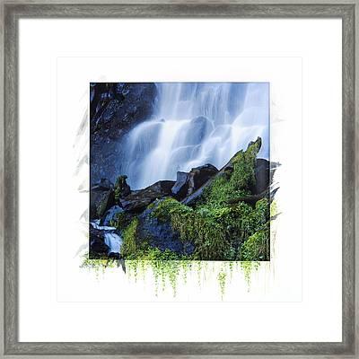 Waterfall Framed Print by Bernard Jaubert