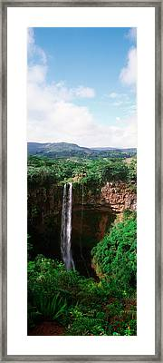 Waterfall, Chamarel Waterfall Framed Print by Panoramic Images