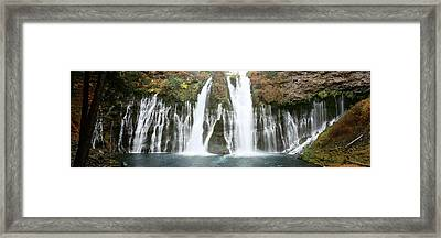 Waterfall In A Forest, Burney Falls Framed Print