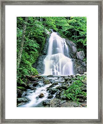Waterfall In A Forest, Moss Glen Falls Framed Print