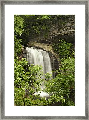 Waterfall In The Woods Framed Print