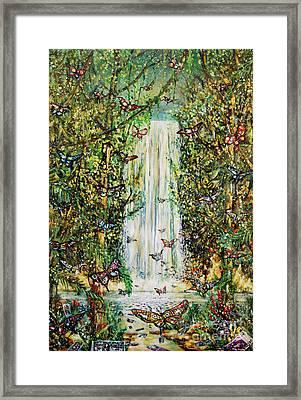 Waterfall Of Prosperity II Framed Print