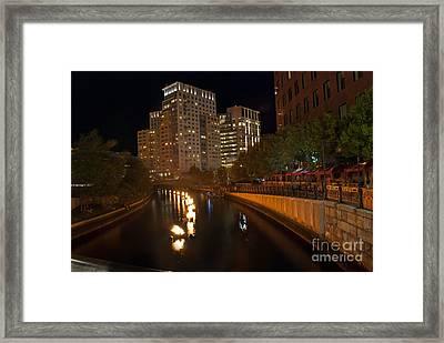 Waterfire.  Providence Rhode Island Framed Print